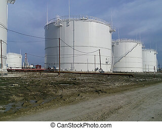 Storage tanks for petroleum products Equipment refinery...