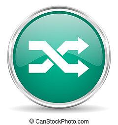 aleatory blue glossy circle web icon