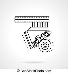 Longboard suspension flat line vector icon. - Parts,...