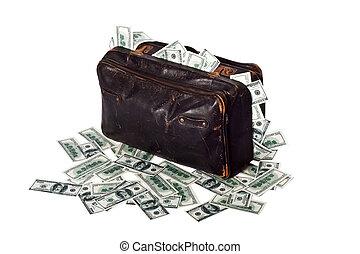 billetes de banco, Lleno, maleta