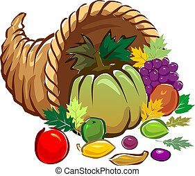vegetables - Illustration of a basket of vegetables