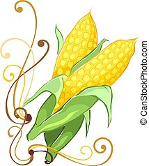 maize - Illustration of a maize in black background