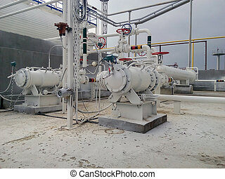 The pump for pumping hot products of oil refining. Equipment...