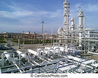 The oil refinery Equipment for primary oil refining...