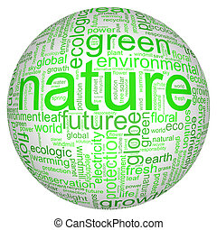Nature illustration with manz different terms like natur or...