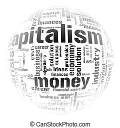 Illustration with different economic terms
