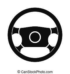 Steering wheel black simple icon
