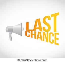 last chance megaphone message at loud. concept