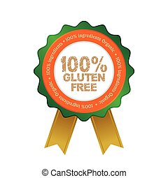 Gluten free - Isolated gluten free label with text. Vector...