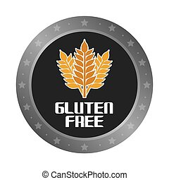 Gluten free - Isolated gluten free label with text Vector...