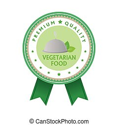 Vegetarian food - Isolated label with text for vegetarian...