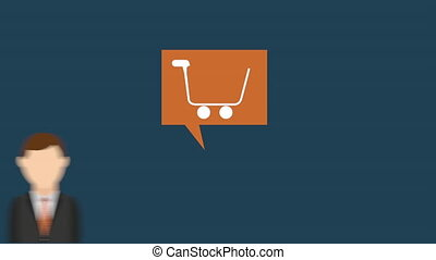 buy online icon design, Video Animation HD1080