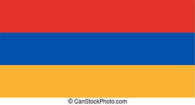 Armenia flag - Armenian flag and language icon - isolated...