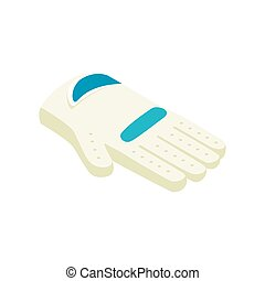 Golf glove isometric 3d icon on a white background