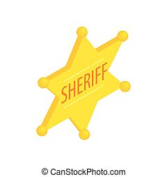 Sheriff star isometric 3d icon