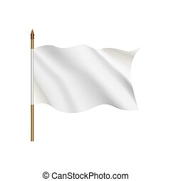 White flag waving on the wind
