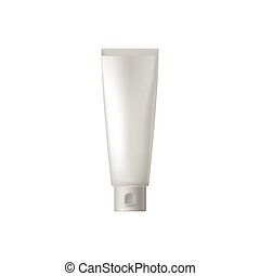 White blank cosmetic tube