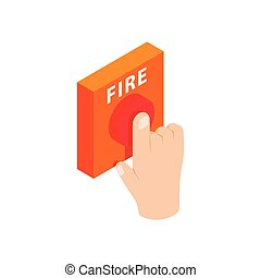 Fire alarm isometric 3d icon