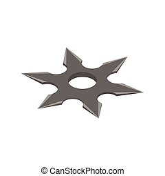 Shuriken isometric 3d icon on a white background