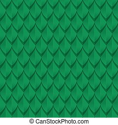 Green dragon scales seamless background texture Vector...