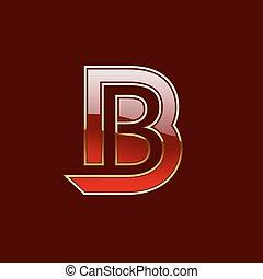Vector Gold Letter B Shape Logo Element - Vector Gold,...