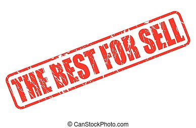 The best for sale red stamp text on white