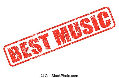 Best music red stamp text