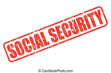 Social security red stamp text