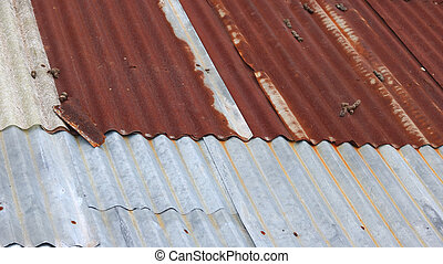 Old rusty or Old tin or Metal corroded texture