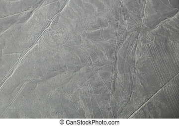 Aerial view of Nazca Lines - Monkey geoglyph, Peru The Lines...