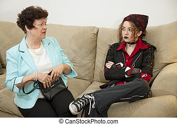 Parent Child Argument - Rebellious teen and worried mother...