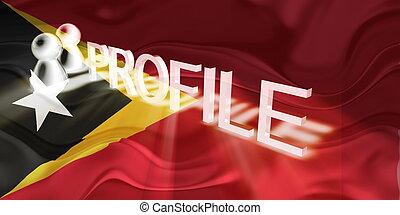 Flag of Timor-Leste wavy profile - Flag of Timor-Leste,...