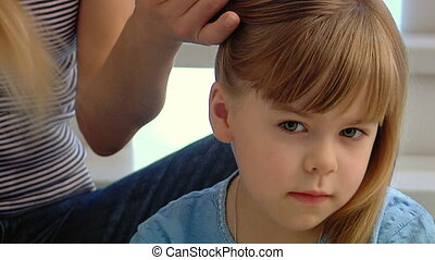 Little girl with tresses