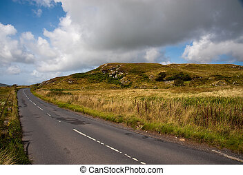 Islay road - Road and hill on the Isle of Islay
