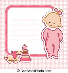 Birthday card Nice Greeting card - template Cute simple...