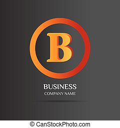 B Letter logo abstract design