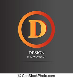 D Letter logo abstract design