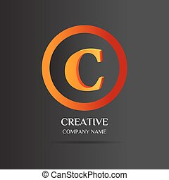 C Letter logo abstract design