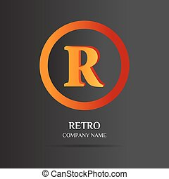 R Letter logo abstract design