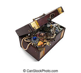 treasure chest with valuables