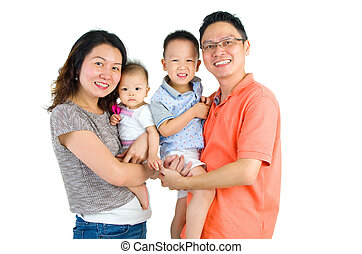 asian family - Portrait of an happy asian family