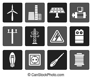 Electricity and power icons - Flat Electricity and power...