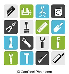Construction Tools icons - Flat Building and Construction...