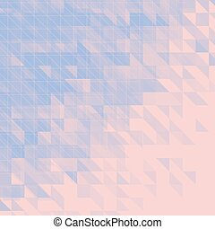 blue and pink triangular abstract background. vector