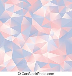 abstract light blue and pink paper triangles design...