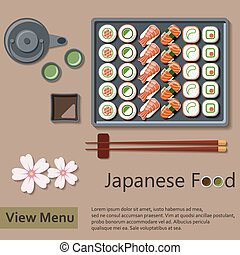 Japanese food Vector Illustration