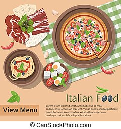 Italian food. Vector Illustration