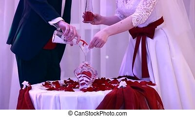 beautiful sand ceremony at the wedding Ukraine