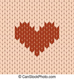 Knitted heart seamless pattern
