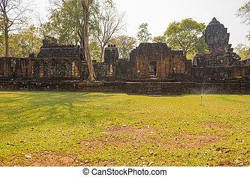 Muang Singha ancient rock castle at kanchanaburi, Thailand